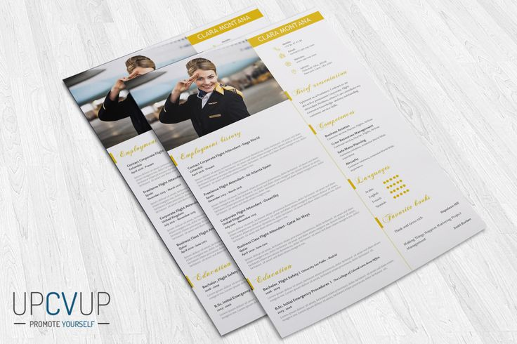 Cabin Crew § Flight Attendant Modern Resume CV Template + Cover - flight attendant cover letter