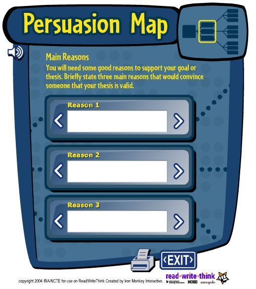 developing persuasive writing interactive website to map out a persuasive essay - Format For Persuasive Essay