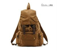 Горячая мода холст телячья кожа наружная мужские женские рюкзака путешествия туризм ноутбука спортивная школа сумка