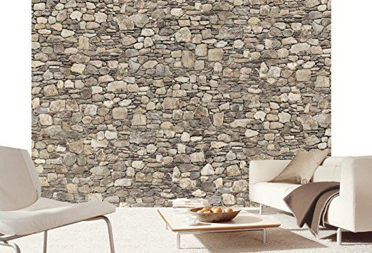 Carta da parati effetto pietra 3D Greek Stone Wall 366 x 254 cm Deco.deals