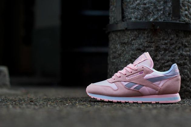 Reebok Classic Leather Seasonal   Patina Pink / Lavender Luck   White