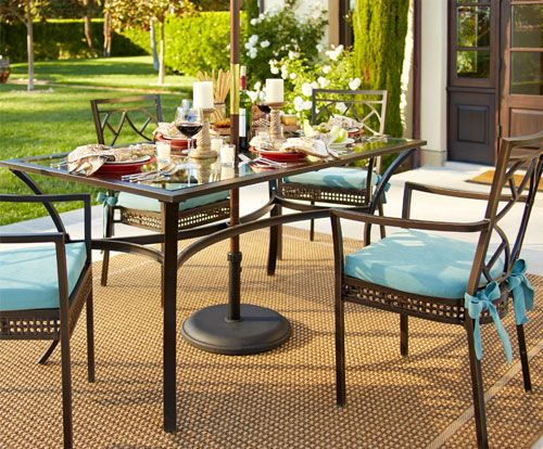 Cure Cabin Fever. Shop Pier 1 Outdoor Furniture: La Palma Collection. #Pier1OutdoorParty