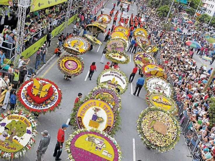 """Medellin in one of its most important events """"La Feria De Las Flores"""" (the fair of the flowers)  celebrated every August, where we celebrate our eternal spring and the beautiful colors that come with it."""