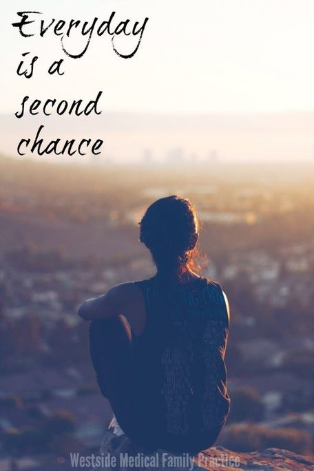 Everyday is a second chance. Love this motivational quote