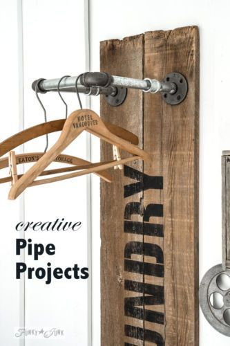 Creative And Easy Pipe Projects! By Funky Junk Interiors for eBay