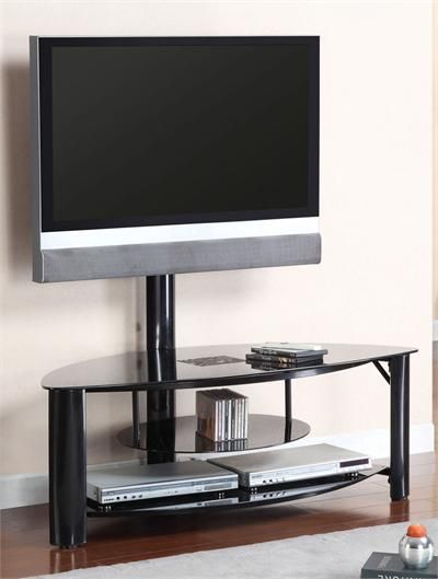 "50"" Fendy Black Glass TV Stand"