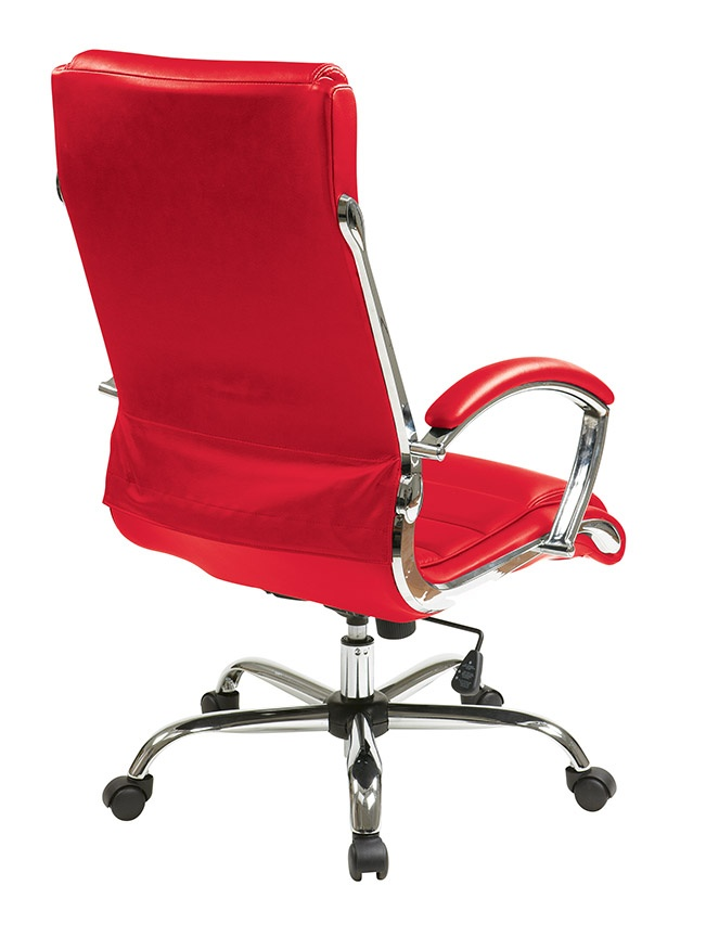 Inspired By Bassett Ellis Chrome Executive Chair In Red Product No Bp
