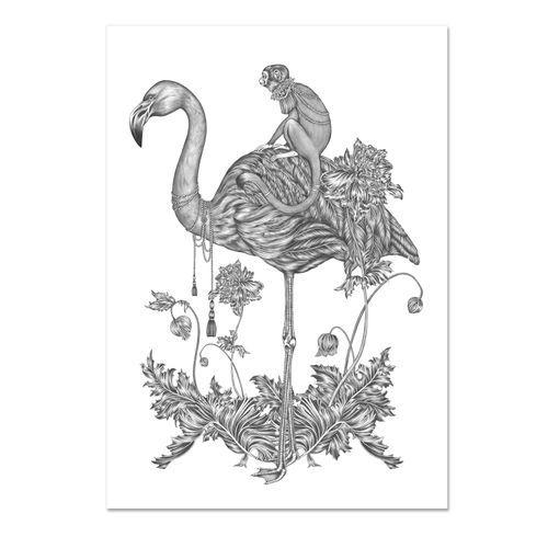 Emma Fällman Print, Monkey. 29,7x42cm