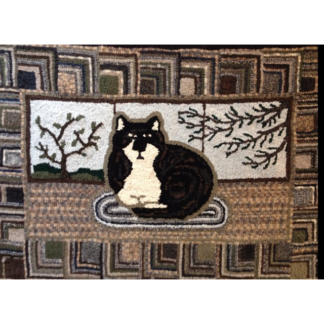 Wool Rug Made From Used Wool Clothing.in Memory Of Jasmine❤