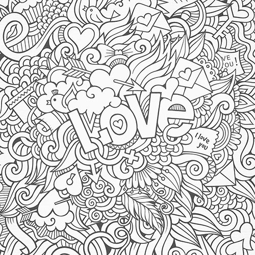 4218 best colouring drawing images on pinterest for Te amo coloring pages