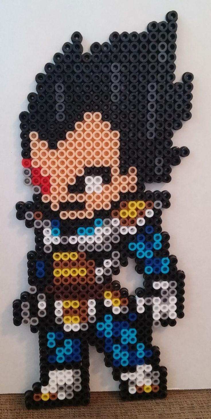 Vegeta Dragon Ball Z perler beads by MeltyCreations