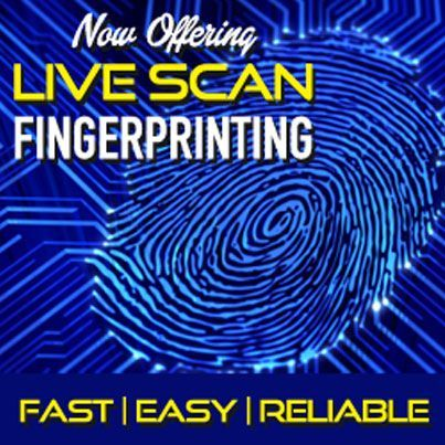 Now offering live scan #fingerprinting at Gems N' Loans in #Escomdido. Fast, easy and reliable #service available seven days a week. Walk-ins welcome.