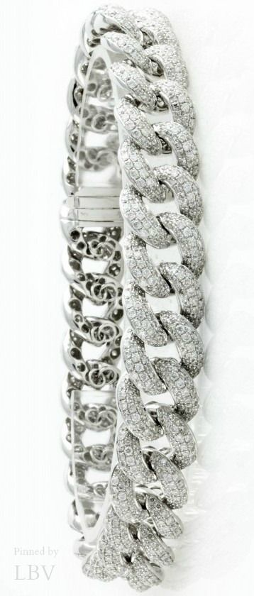Diamonds ♥✤Cuban Link Diamond Bracelet