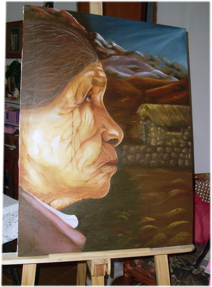 Rostro al Oleo  Pintado por Claudia Cerezo