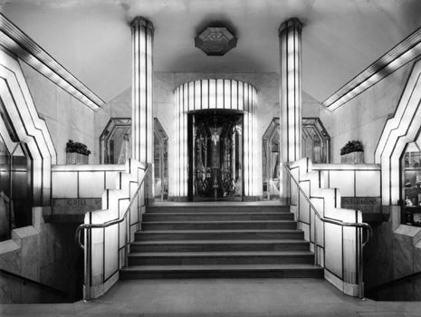 Foyer of the Strand Palace Hotel, London, 1930-1931,Oliver Bernard.