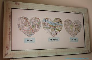 a gift for my brother and new sister-in-law?: Gifts Ideas, Anniversaries Presents, Anniversaries Ideas, Maps, So Cute, Cute Ideas, Anniversaries Gifts, Places, Wedding Gifts
