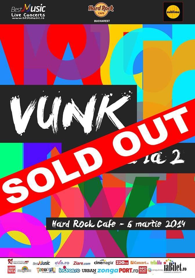 #numaila2 - concertul VUNK din Hard Rock Café este sold out  http://www.emonden.co/numaila2-concertul-vunk-din-hard-rock-cafe-este-sold