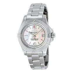 Breitling Colt Lady Mother of Pearl Dial Stainless Steel Quartz Ladies Watch A7738811-A770SS