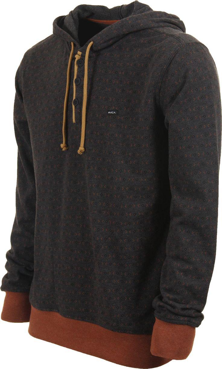 RVCA Magia Hoodie - charcoal - Men's Clothing > Hoodies & Sweaters > Hoodies > Pullover Hoodies