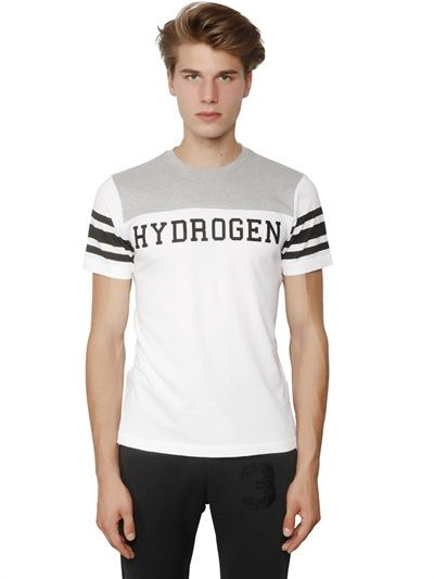 HYDROGEN - COLOR BLOCK COTTON T-SHIRT - LUISAVIAROMA - LUXURY SHOPPING WORLDWIDE SHIPPING - FLORENCE