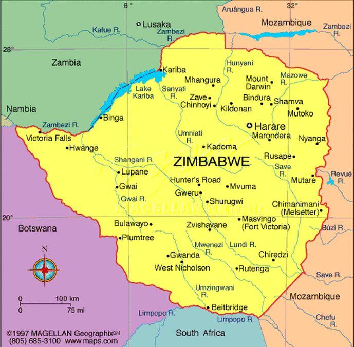Jungle Maps: Map Of Africa Great Zimbabwe