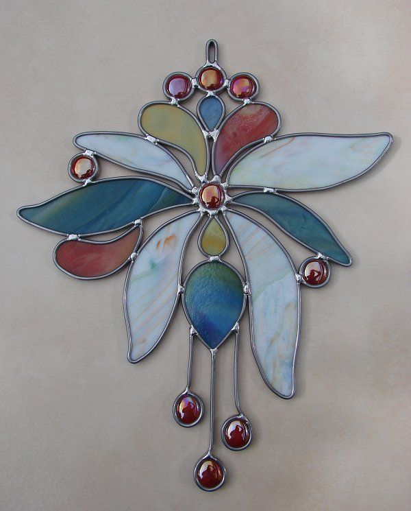 148 Best Images About Stain Glass Flowers On Pinterest