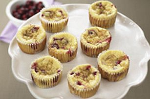 Individual Baked Cranberry Cheesecakes