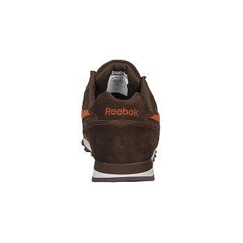 Reebok Work Men's Leelap Steel Toe Sneakers (Brown W/ Orange Trim) - 9.0 W