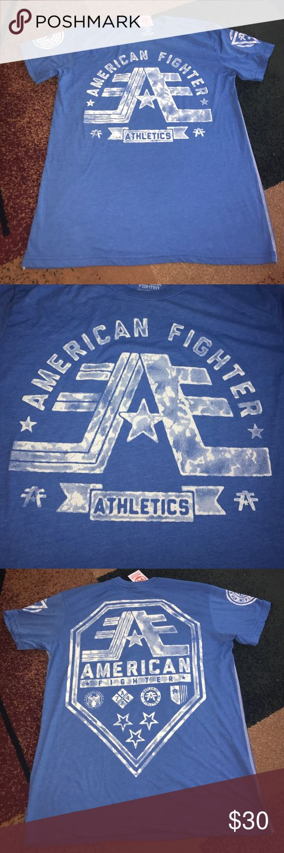 Mens American Fighter shirt 2XL NWT New with tag. 50% cotton 50% polyester. Please check my other listings. Thank you for looking and have a great day! American Fighter Shirts Tees - Short Sleeve