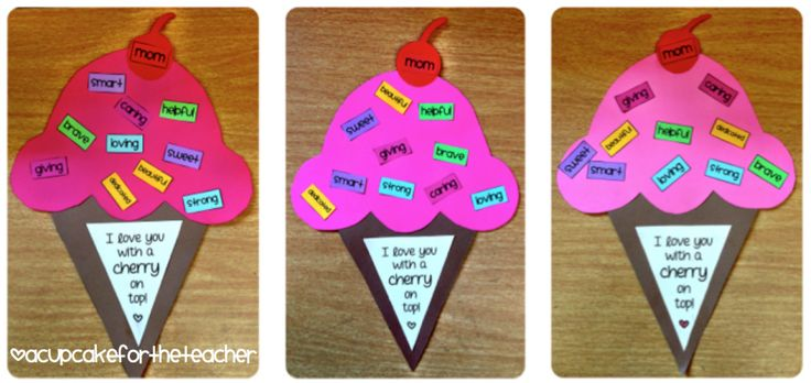 Mom I love you with a cherry on top! Great adjective activity for elementary school.