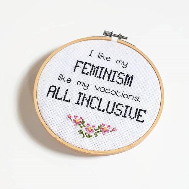 Intersectional Feminist PDF Cross Stitch Pattern