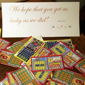 Get yourself some luck - stat - Oh I LOVE this idea!. OR PULL TABS HAHAHA