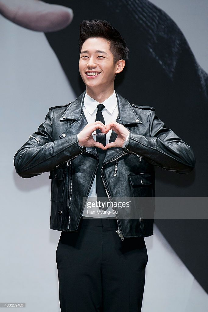 South Korean actor Jung Hae-In attends the press conference for KBS Drama 'Blood' on February 11, 2015 in Seoul, South Korea. The drama will open on February 16, in South Korea.