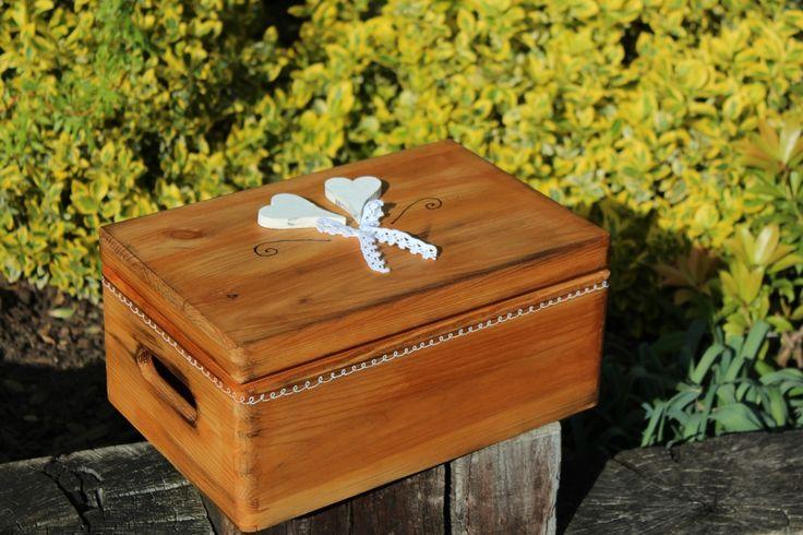 Dřevěná krabička SRDCOVKA