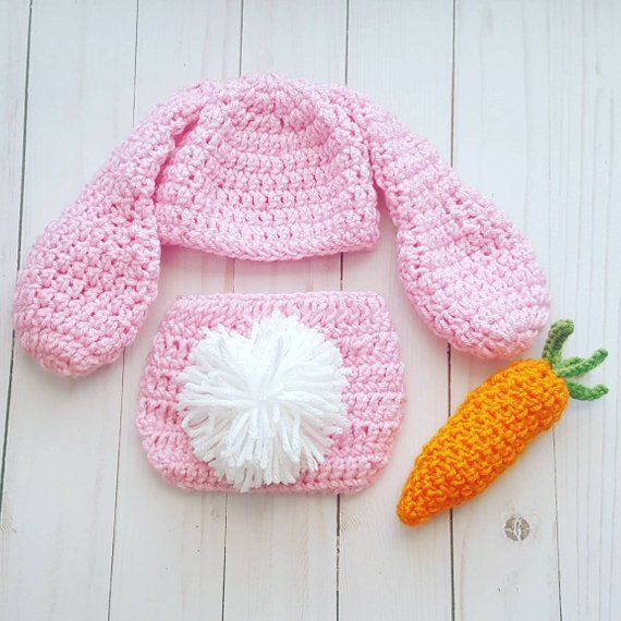 Baby & Toddler Clothing Hats Newborn Rabbit Baby Boy Girls 0-6M Knit Crochet Costume Photo Prop Outfits