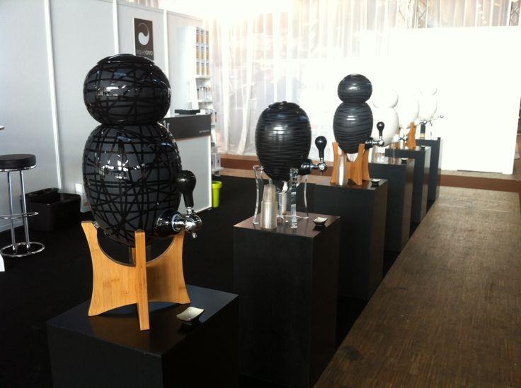 Notre stand lors du salon Mondial Spa & Beauté 2012. Les visiteurs ont été nombreux à se rafraichir pendant 5 jours.