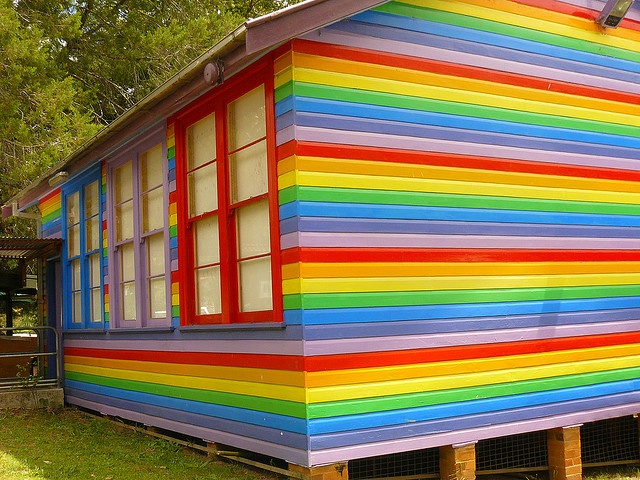 The rainbox house in Nimbin, NSW, Australia. It's an art gallery.