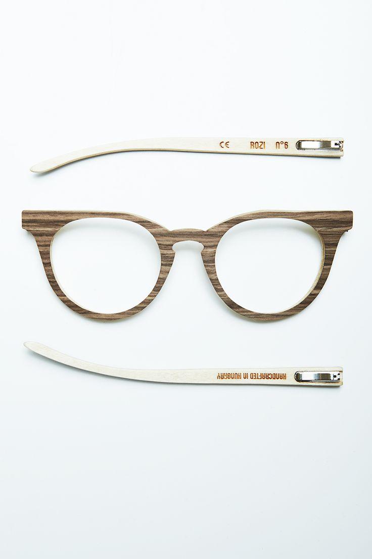 No.6 Walnut, handmade, wooden sunglasses by Rozi Handcrafted Sunglasses