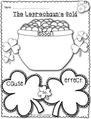 """FREEBIE: Cause and Effect from """"The Leprechaun's Gold"""" book at http://heerenshappenings2.blogspot.com/2013/03/freebie-leprechauns-gold.html"""