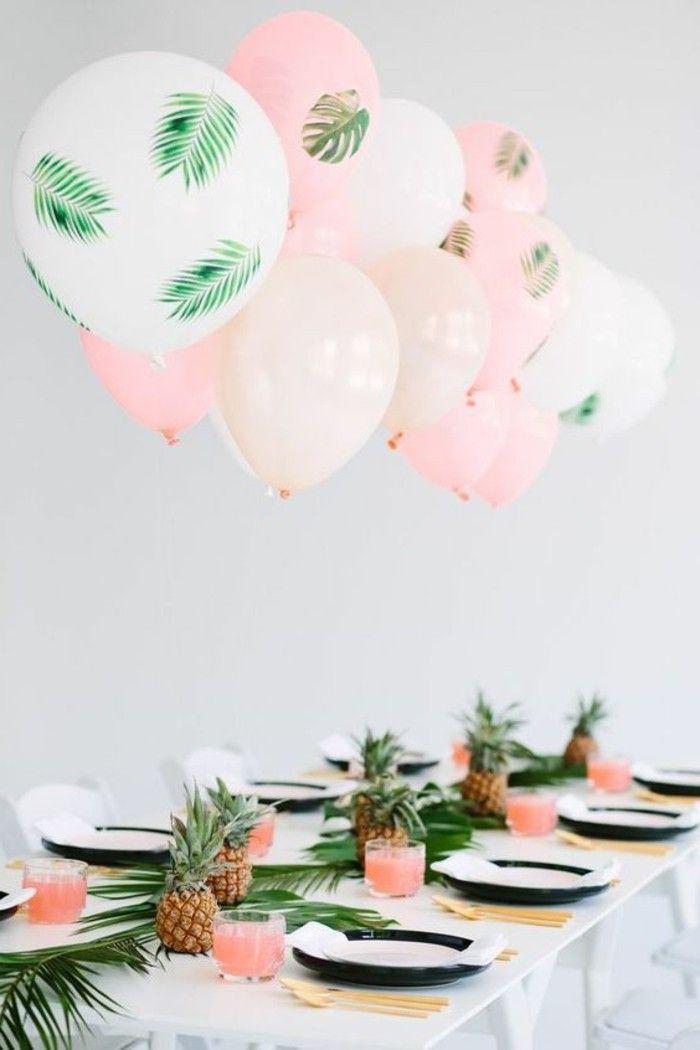 idee deco table mariage pas cher avec ballons, ballon helium mariage