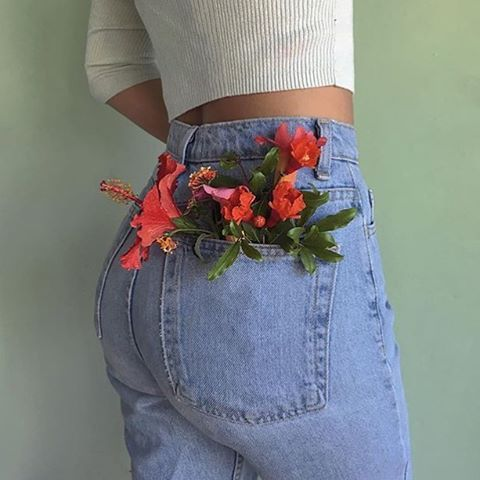 Spring feels in the High-Waist Jean #AmericanApparel #MadeInUSA