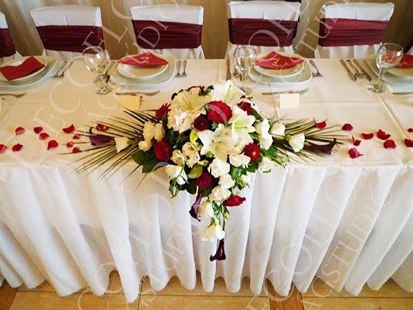 DECOFLOR virágdekoráció BLOG: Bordó esküvői dekoráció