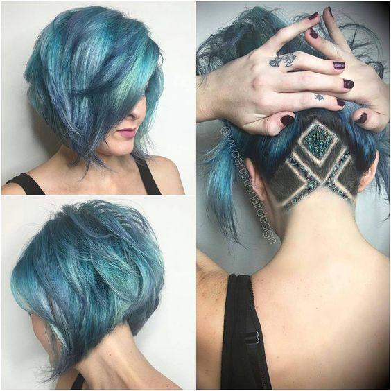 11 wunderschöne künstlerische Frisuren mit Undercut und ganz viel Farbe! - Neue…
