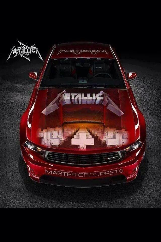 Master Of Puppets Mustang Metallica Pinterest Cars