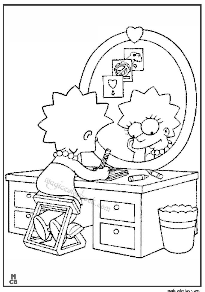 bartman simpsons coloring pages - photo#25