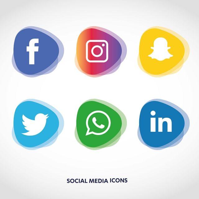 Social Media Icons Set Logo Vector Illustrator, Social