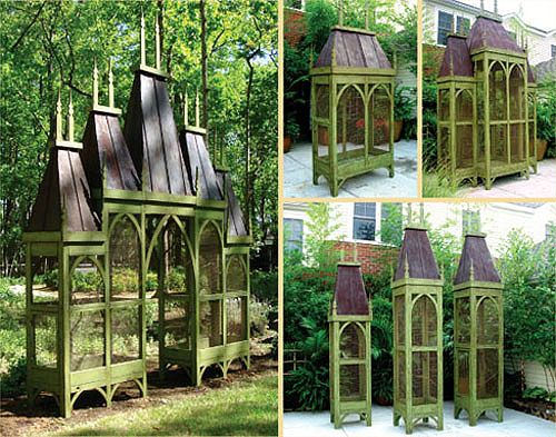 I don't own any birds but these beautiful custom aviaries make me want to adopt a few.