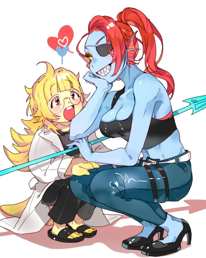undertale alphys and undyne - photo #25