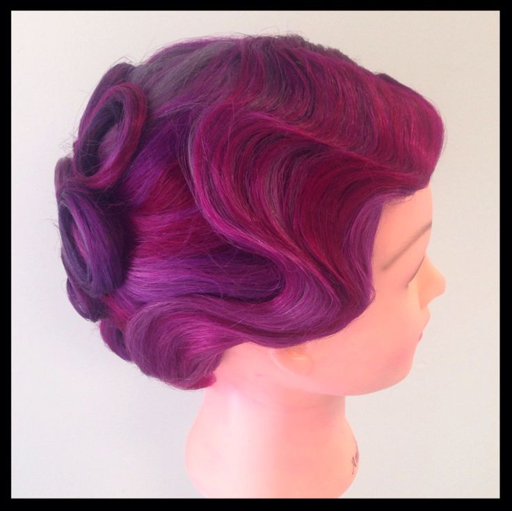 Vivid Pink, Orchid, And Lavender Fashion Hair Color With