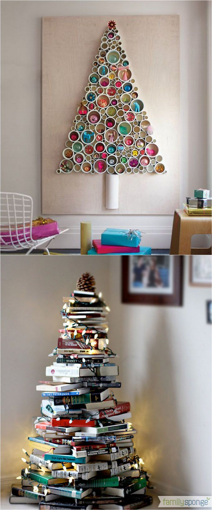 18 Unconventional and beautiful DIY Christmas trees : ideas to create unique Christmas decorations for your home, perfect for any space in your home! - A Piece Of Rainbow